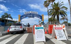 The Santa Monica Pier has fencing for 18 blocks along Ocean Avenue, and there are signs at the entrances of the paths saying that nobody can pass. The pier was built in 1909 and has never been fully closed. Many businesses that Archer girls frequent are closed during this time.