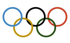 The Olympic rings each represent different continents at the Olympics. This year's summer olympics in Tokyo has been postponed to 2021.