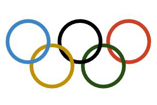 The Olympic rings each represent different continents at the Olympics. This year