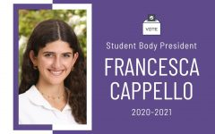 The rising upper school elected Francesca Cappello as next year's Student Body President.