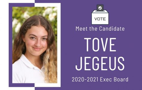 Meet the Candidate: Tove Jegeus '21