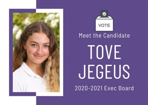 Meet the Candidate: Tove Jegeus
