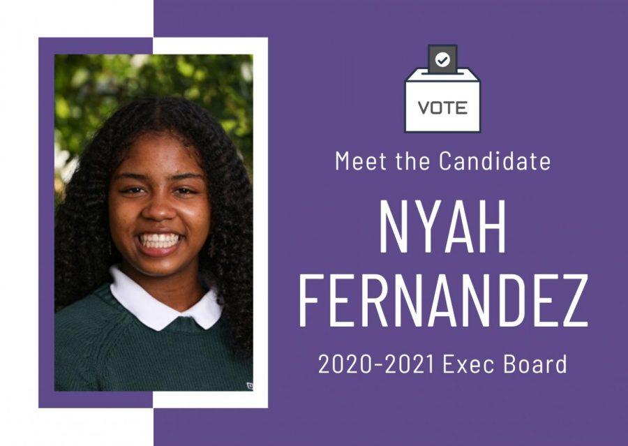 Meet the Candidate: Nyah Fernandez '22