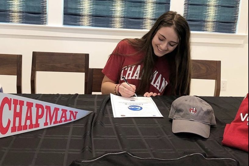 Play like a panther: Amelia Nathanson commits to Chapman volleyball via Zoom