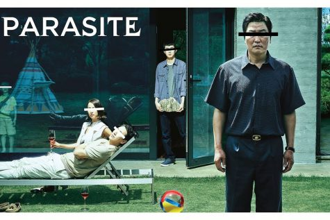 """Parasite"" which premiered in 2019, has gained international respect nominated for six oscars and winning four.  Promotional poster by Barunson E&A."