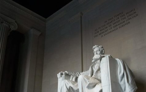The statue of sixteenth president Abraham Lincoln sits in the Lincoln Memorial in Washington, D.C. The Lincoln Project was founded by eight individuals including a Washington Post contributing columnist, George Conway and New York Times best selling author, Rick Wilson.