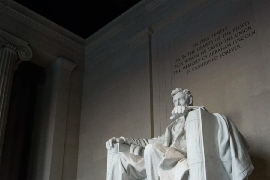 The+statue+of+sixteenth+president+Abraham+Lincoln+sits+in+the+Lincoln+Memorial+in+Washington%2C+D.C.+The+Lincoln+Project+was+founded+by+eight+individuals+including+a+Washington+Post+contributing+columnist%2C+George+Conway+and+New+York+Times+best+selling+author%2C+Rick+Wilson.