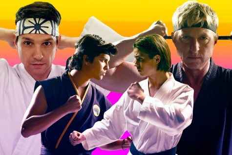 "A promotional image from Youtube original series ""Cobra Kai,"" which was re-released on Netflix this month. The show reframes the original ""Karate Kid"" story, reversing the black-and-white ideals of privilege and morality."