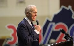Democratic Presidential Candidate, Former Vice President Joe Biden speaks at a rally on March 1 in Norfolk, Virginia, at Booker T. Washington High School. Remember to register or pre-register to vote at https://vote.gov/.