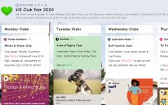 In preparation for the club fair on September 25, a Padlet was created where leaders could promote their offerings. Clubs have had to adapt to the stresses and virtual demands of 2020 when planning their first meetings.
