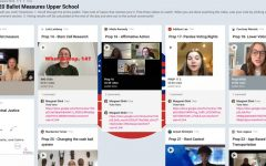 After researching select propositions, students in Margaret Shirk's Voice of Democracy class put together a Padlet with the pros and cons on their assigned California ballot propositions. Later, the Archer community watched the videos and voted on their preferred local policy.