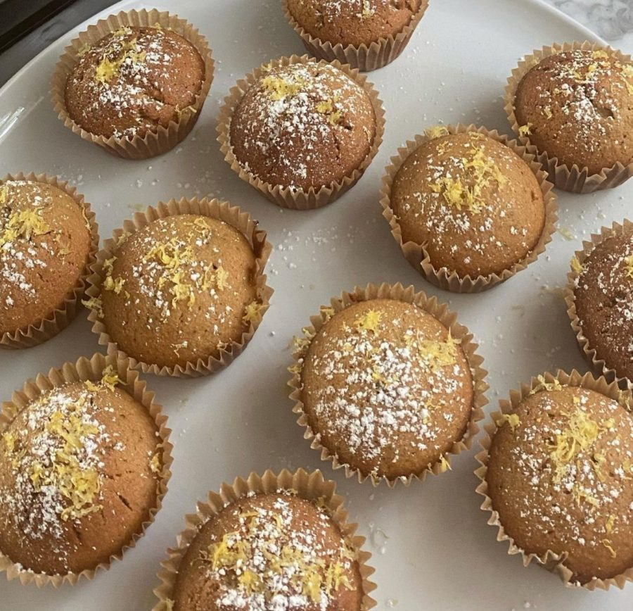 Noor Afshar's '23 is baking lemon citrus muffins to sell through her website this week. All the proceeds of Afshar's baked goods are donated to One Heart Worldwide.