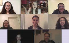 Members of the Speech and Debate team join together on Zoom after a successful league tournament the last weekend in January. Five members collectively placed in six different categories leaving the team