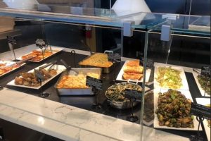 Erewhons hot bar has a new selection of sides every day made fresh that morning. All their ingredients are sourced locally.
