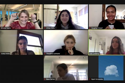 "The Oracle staff discusses the purpose of journalistic work via a virtual class. ""I have learned so much from being a student journalist,"" current Podcast Editor London Sinclair said."