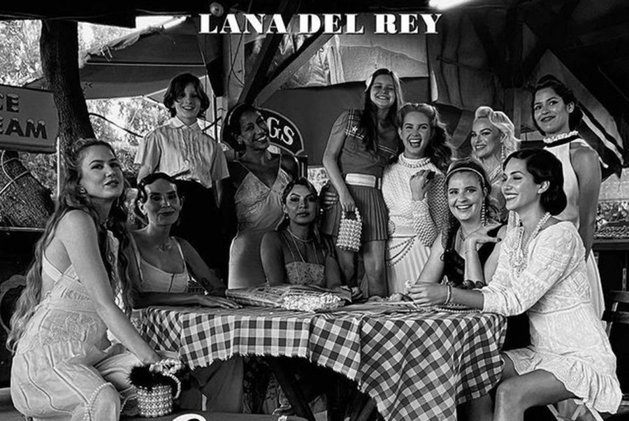 Lana+Del+Rey+released+her+seventh+studio+album+%22Chemtrails+Over+the+Country+Club%22%2C+produced+alongside+Jack+Antonoff+and+Rick+Nowels%2C+on+March+19%2C+2021.+The+album+cover+captures+Del+Rey+amongst+her+closest+friends+inher+most+authentic+album+yet%2C+captioning+its+release+with+%22These+are+my+friends%2C+this+is+my+life.+We+are+all+a+beautiful+mix+of+everything%2C+which+is+visible+and+celebrated+in+everything+I+do.%E2%80%9D