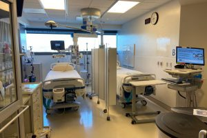 An ICU unit is separated into two rooms to prepare for the surge of COVID-19 cases. Melissa Sharp's Systems Biology & Disease class researched and studied both vaccines to better inform the greater Archer community through their work.