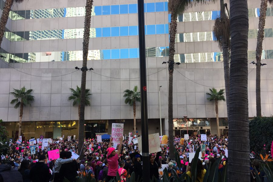 In 2016, current junior Isabella Specchierla attended the Women's March in Los Angeles. Specchierla describes her experience as