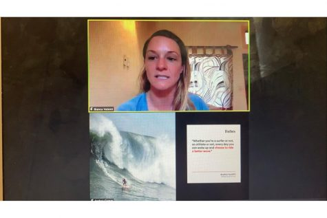 Professional big wave surfer Bianca Valenti discusses her career as a professional big wave surfer, activist for gender equality and advocate for ocean conservation as the final speaker in the ALC's Panther Speaker series. Her conversation ranged from mental toughness to fighting for equality across sports, with the hope to expand the conversation surrounding female empowerment.