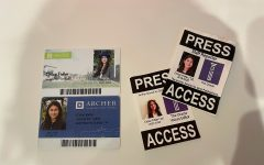 On the left is my last Archer Student ID, twelfth grade, above my first ever Student ID, seventh grade; on the right is my first Oracle press pass. 2019, and my last Oracle press pass, 2022. Putting the IDs and press passes together makes me feel nostalgic, but also reminds me of how far I have come.